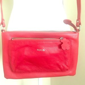 Tous Handbag Red Leather Crossbody Small Purse